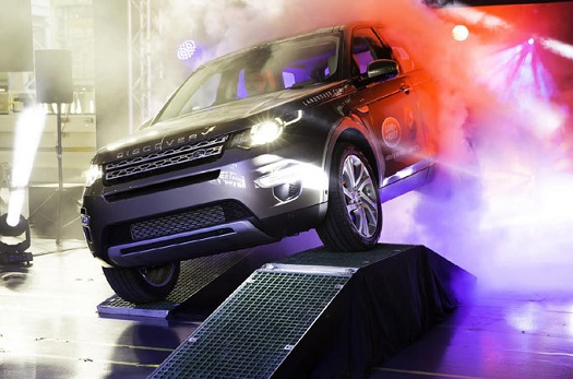First Discovery Sport rolls off the assembly line. (Cedit: Land Rover)