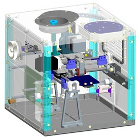 Funded by the Italian space agency ASI, the POP3D (Portable On-Board Printer) for 3D printing will reach orbit in 2015 as part of ESA astronaut Samantha Cristoforetti's Futura mission. (Credit: Altran)