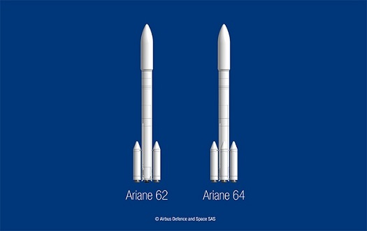 Ariane 6 variants (Credit: Airbus Defense and Space)