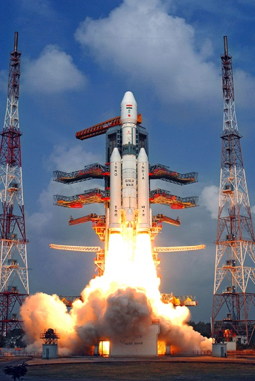 GSLV Mark III inaugural flight test. (Credit: ISRO)