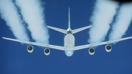 Alternative Fuel Effects on Contrails and Cruise Emissions (ACCESS II) flight test in a DC-8 aircraft. (Credit: NASA /SSAI Edward Winstead)