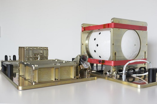 The Automated Transfer Vehicle (ATV) Break-Up Camera (BUC) incorporating the Infrared Camera instrument and SatCom device to be flown on ESA's final ATV, to record infrared footage from the inside of the spacecraft's break-up as it reenters the atmosphere. (Credit: ESA)