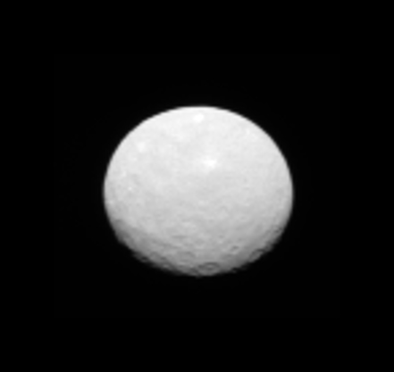 This image is one several images NASA's Dawn spacecraft took on approach to Ceres on Feb. 4, 2015 at a distance of about 90,000 miles (145,000 kilometers) from the dwarf planet. (Credit:  NASA/JPL-Caltech/UCLA/MPS/DLR/IDA)