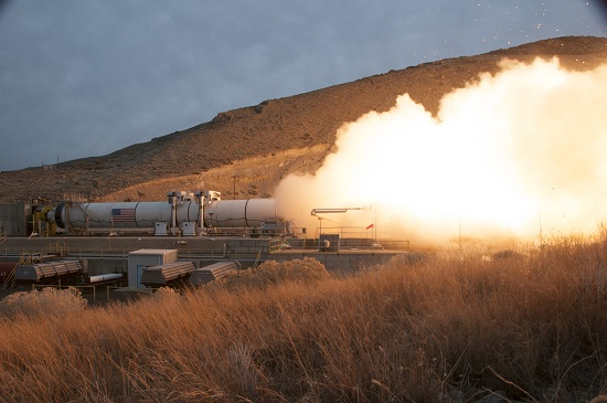 QM-1 static test (Credit: Orbital ATK)