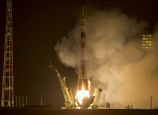 Soyuz TMA-16M lifts off. (Credit: NASA/Bill Ingalls)