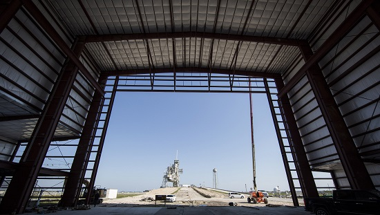 SpaceX assembly building at Pad 39A. (Credit: NASA)