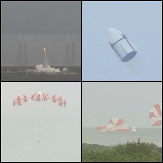 Dragon pad abort test. (Credit: NASA)