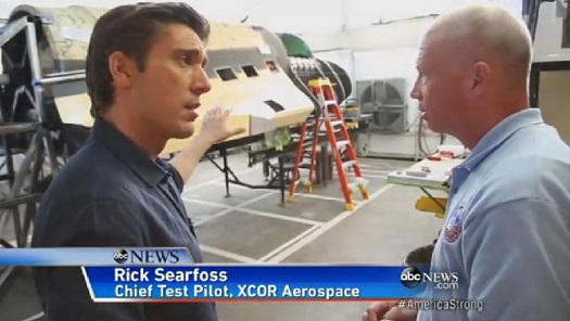 Rick Searfoss of XCOR on ABC World News Tonight. (Credit: ABC News)