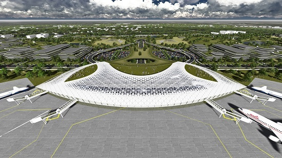 Artist's impression of future Ellington spaceport. (Credit: Houston Airport System)