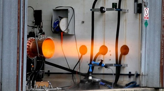 The Advanced Nozzle Rocket Engine firing at Airborne Engineering Ltd. (Credit: Reaction Engines)
