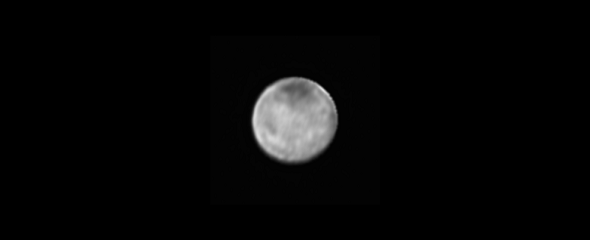 Image of Charon only from the New Horizons' Long Range Reconnaissance Imager (LORRI), July 8, 2015. (Credit: NASA-JHUAPL-SWRI)