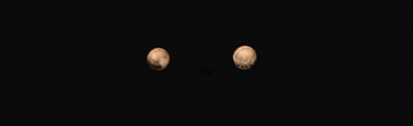 Two hemispheres of Pluto. (Credit: NASA/Johns Hopkins Applied Physics Laboratory/Southwest Research Institute)