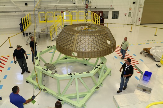 Pressure dome for CST-100 structural test article. (Credit: Boeing)