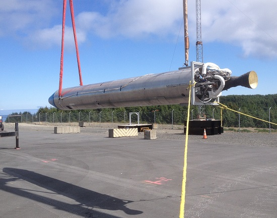 P-19 rocket on Kodiak Island (Credit: Garvey Spacecraft Corporation)