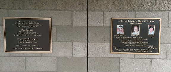 Honoring the dead: memorial plaques at Legacy Park (Cedit: Douglas Messier)