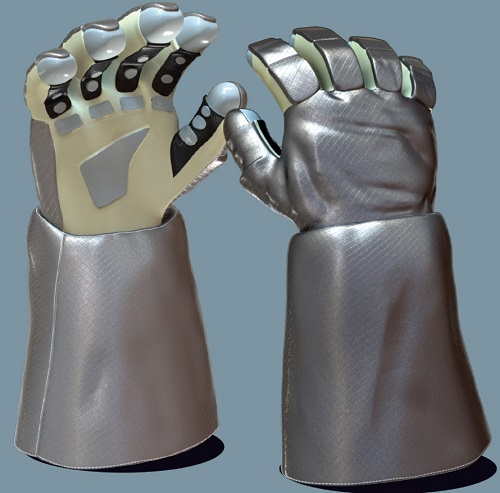 Prototype outer glove protective layer. (Credit: NASA)