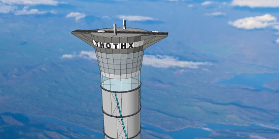 Inflatable space elevator (Credit: Thoth Technology)