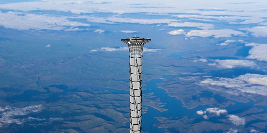 Inflatable space elevator (Credit; Thoth Technology)
