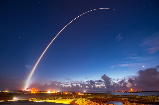 ULA Atlas V rocket carrying the MUOS-4 mission lifted off from Space Launch Complex 41. (Credit: ULA)