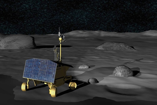 Concept for the Resource Prospector rover. (Credit: NASA)