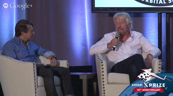 Peter Diamandis and Richard Branson.