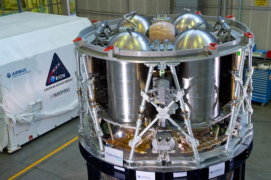 A test version of ESA's service module for NASA's Orion spacecraft. (Credit: Airbus)