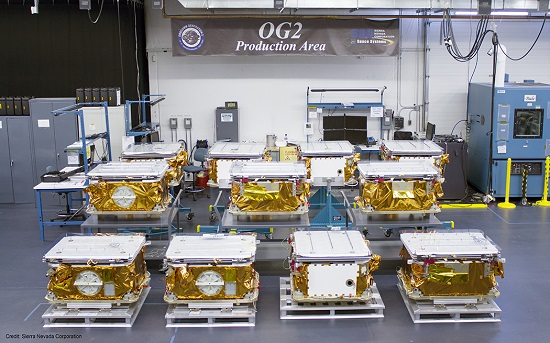 Stowed OG2 Satellites at SNC