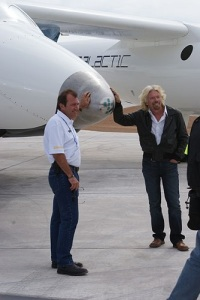 Will Whitehorn and Richard Branson. (Credit: Jeff Foust)