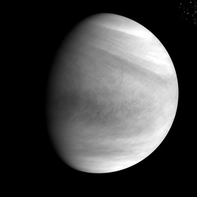By Ultraviolet Imager (UVI), at around 2:19 p.m. on Dec. 7 (Japan Standard Time) at the Venus altitude of about 72,000 km. (Credit: JAXA)