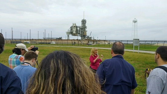Media view Pad 39A. (Credit: NASA)