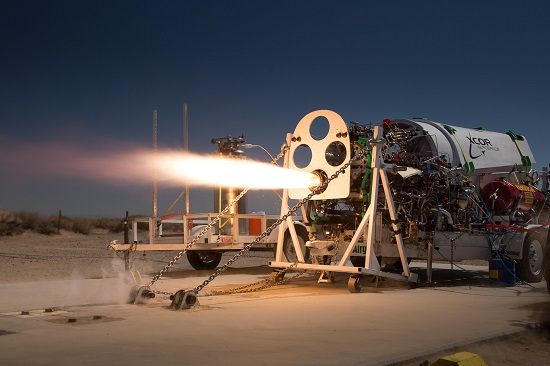 Lynx engine hot fire. (Credit: XCOR)