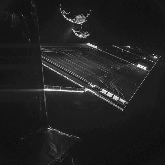 Rosetta mission selfie at 16 km (Credit: ESA/Rosetta/Philae/CIVA)