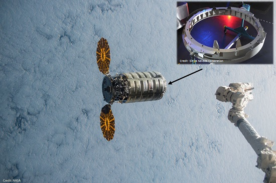 Orbital ATK's Cygnus Cargo Vehicle and SNC's PCBM Ring. (Credit: SNC)