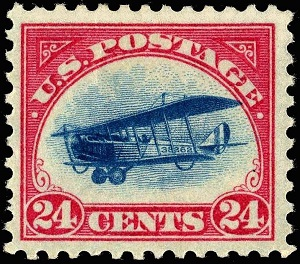 US_stamp_1918_24c_Curtiss_Jenny_-C3