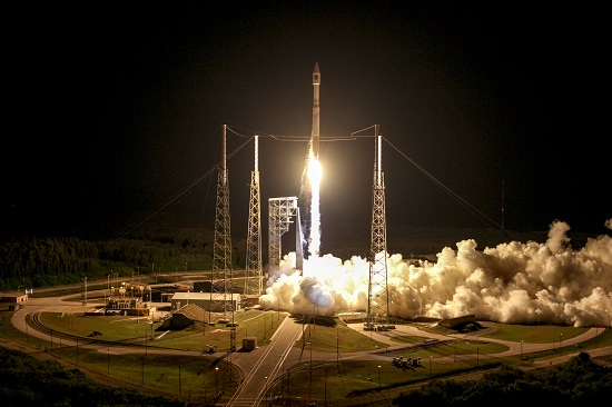 A United Launch Alliance Atlas V rocket carrying the OA-6 mission lifted off from Space Launch Complex 41. (Credit: ULA)