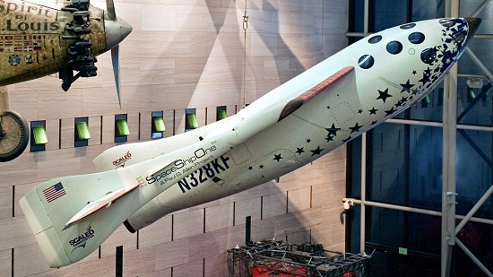 SpaceShipOne on display at the National Air & Space Museum. (Credit: NASM)