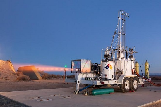 Engine hot fire (Credit: XCOR)