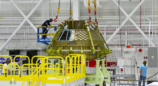 Starliner structural test article. (Credit: Boeing)