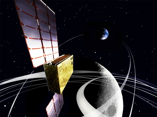 EQUULEUS (EQUilibriUm Lunar-Earth point 6U Spacecraft) will measure the distribution of plasma that surrounds the Earth to help scientists understand the radiation environment in the region of space around Earth. It will also demonstrate low-energy trajectory control techniques, such as multiple lunar flybys, within the Earth-Moon region. (Credit: JAXA/University of Tokyo)