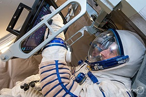 Ergonomic testing has been conducted for the new Federation spacecraft. (Credit: RSC Energia)
