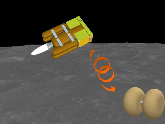 OMOTENASHI (Outstanding MOon exploration TEchnologies demonstrated by NAno Semi-Hard Impactor) demonstrate the technology for low-cost and very small spacecraft to land on the lunar surface. The CubeSat will also take measurements of the radiation environment near the moon as well as on the lunar surface. (Credit: JAXA/University of Tokyo)