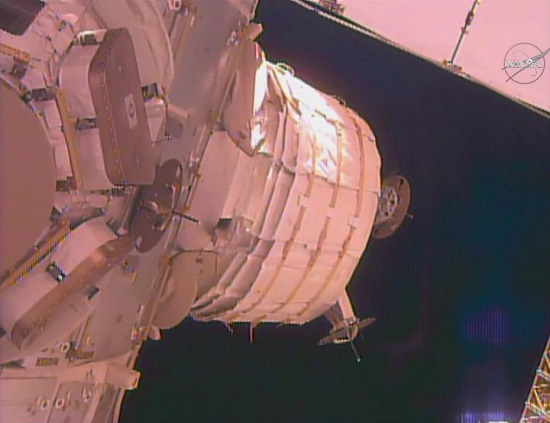 BEAM attached to the International Space Station. (Credit: NASA)