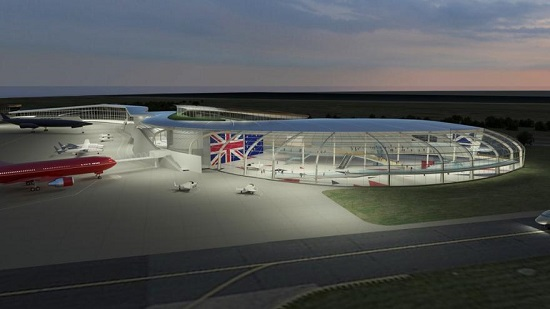 Artist's rendering of Glasgow Prestwick Spaceport (Credit: South Ayreshire Council)