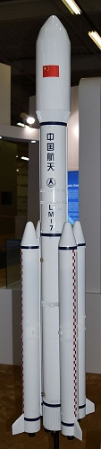 Model of Long March 7 booster