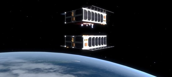 The ability to autonomously rendezvous and dock CubeSats could enable in-orbit assembly of larger structures that simply would not be possible in any other way. (Credit: EPFL/Jamani Caillet)