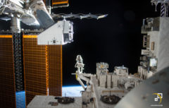 ISS external experiments platform (Credit: NASA)