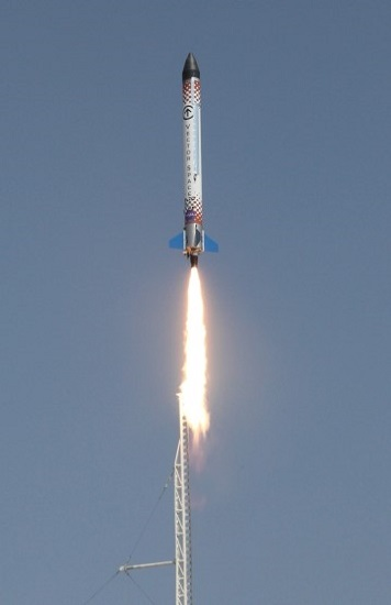 P20 sub-scale test vehicle launch (Credit: Vector Space Systems)