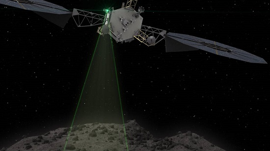 This graphic depicts the Asteroid Redirect Vehicle conducting a flyby of its target asteroid. During these flybys, ARM would come within 0.6 miles (1 kilometer), generating imagery with resolution of up to 0.4 of an inch (1 centimeter) per pixel. (Credit: NASA)