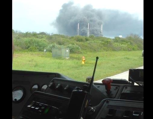 Members of the 45th Space Wing's Incident Management Team responded to an explosion Sept. 1, 2016, on Space Launch Complex 40 at Cape Canaveral Air Force Station, Fla. (Credit: 45th Space Wing)