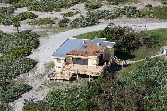The Beach House is seen during an aerial survey of NASA's Kennedy Space Center in Florida on Saturday. (Credit: NASA/Cory Huston)